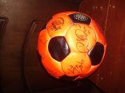 мяч с автографами СПАРТАК 87 год