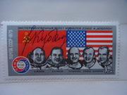 Автограф космонавта на почтовых марках