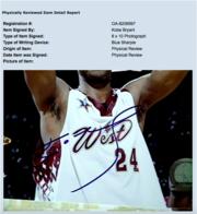Автограф Игрока NBA Kobe Brayant с сертификатом